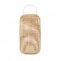 Suport lumanare, cu agatatoare, fibra de cocos, 30 x 30 x 44 cm