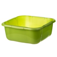 Lighean universal patrat Crilelmar, plastic, verde, 10 L, 350 x 350 x 140 mm