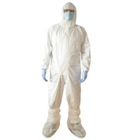 Combinezon de protectie chimica Vicmod, cu gluga, polipropilena laminata cu pelicula TPPTG, marime M