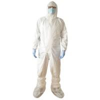 Combinezon de protectie chimica Vicmod, cu gluga, polipropilena laminata cu pelicula TPPTG, marime XL