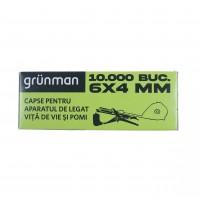 Capse pentru aparat de legat vie / pomi Grunman, metal, 10000 buc/cutie