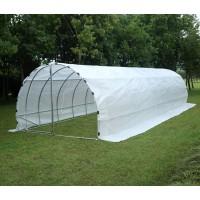 Sera pentru gradina, structura otel + folie polietilena cu insertie fibra de sticla, 10 x 3 x 2 m, 2802