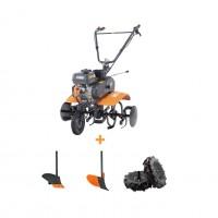 Motocultor pe benzina O-Mac MC 70, 7 CP, 3 viteze + roti transport + accesorii