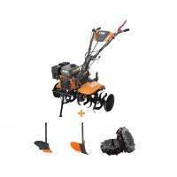 Motocultor pe benzina O-Mac MC 80, 8 CP, 3 viteze + roti transport + accesorii