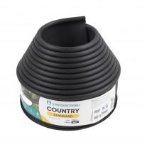 Separator gazon Country, plastic, negru, 10 cm x 6 m