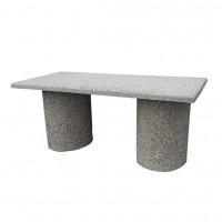 Masa fixa pentru gradina, beton, dreptunghiulara, 200 x 80 x 87 cm