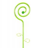 Stick pentru sprijinire orhidee, plastic, decor spirala, verde