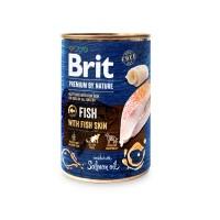 Hrana umeda pentru caini, Brit Premium by Nature, adult, carne de peste, 400g
