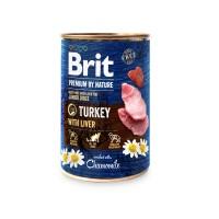 Hrana umeda pentru caini, Brit Premium by Nature, junior, carne de curcan, 400g