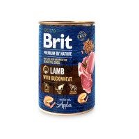 Hrana umeda pentru caini, Brit Premium by Nature, adult, carne de miel, 400g