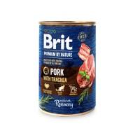 Hrana umeda pentru caini, Brit Premium by Nature, adult, carne de porc, 400g