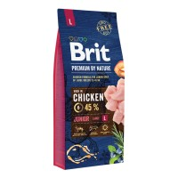 Hrana uscata pentru caini, Brit Premium by Nature, junior L, carne de pui, 15kg