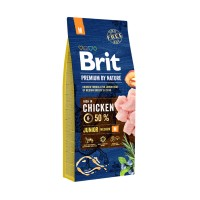 Hrana uscata pentru caini, Brit Premium by Nature, junior M, carne de pui, 15kg