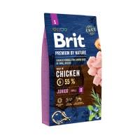 Hrana uscata pentru caini, Brit Premium by Nature, junior S, carne de pui, 8kg