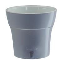 Ghiveci din plastic, Dali, cu auto-udare, gri, D 19 cm