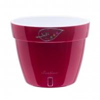 Ghiveci din plastic, Asti, cu auto-udare, rosu, D 34 cm