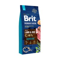Hrana uscata pentru caini, Brit Premium by Nature Sensitive, adult, carne de miel, 15kg