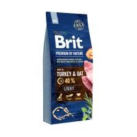 Hrana uscata pentru caini, Brit Premium by Nature Light, adult, carne de curcan si pui, 15kg