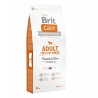 Hrana uscata pentru caini de talie medie, Brit Care Adult Medium Breed Lamb & Rice, carne de miel, 12kg