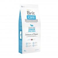 Hrana uscata pentru caini de talie mare, Brit Care Junior Large Breed, somon si cartofi, 12kg