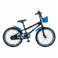Bicicleta pentru copii Rich Baby R2003A, 20 inch, frane C-Brake, 7-10 ani, negru/ albastru