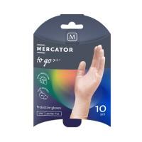 Manusi de protectie unica folosinta Mercator To - Go, vinil, transparent, marimea M, set 10 buc