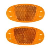 Reflector spite pentru bicicleta, Dunlop, plastic, portocaliu, set 2 buc