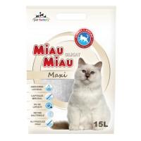 Asternut silicat Maxi, Miau Miau, pentru pisici, 15L