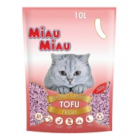 Asternut tofu Fresh, Miau Miau, pentru pisici, 10L