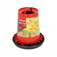 Hranitoare pentru pasari, plastic, cu maner, 3.5 kg, 26 x 27 cm