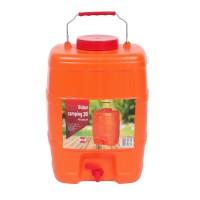 Bidon Crielelmar, portocaliu, cu robinet, pentru camping, 30 x 21 x 43 cm, 20L