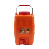 Bidon Crielelmar, portocaliu, cu robinet, pentru camping, 23 x 18 x 35 cm, 10L