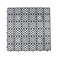 Dala pentru terasa, polipropilena, exterior, perforata, gri, 33 x 33 x 1.2 cm
