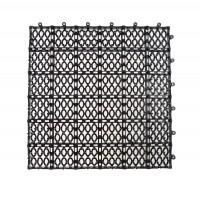 Dala pentru terasa, polipropilena, exterior, perforata, maro, 33 x 33 x 1.2 cm