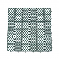 Dala pentru terasa, polipropilena, exterior, perforata, verde, 33 x 33 x 1.2 cm