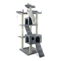 Ansamblu de joaca pentru pisici, Miau Miau Royal, cu sisal, 55 x 60 x 182 cm