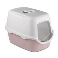 Litiera pentru pisici, Stefanplast, acoperita, plastic, roz, 56 x 40 x 40 cm