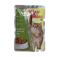 Hrana umeda pentru pisici, Miau Miau, adult, carne de rata, 100g