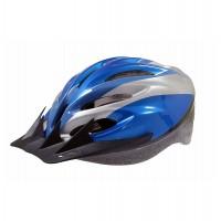 Casca protectie Sport, Bottari, pentru bicicleta, albastru/gri, marime S, 55 - 56 cm
