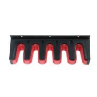 Suport pentru unelte de gradina IWN1-S411, plastic, negru + rosu, 31 x 7 cm