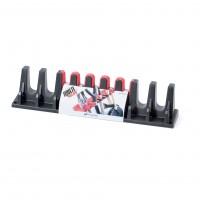 Suport pentru unelte de gradina IWN2-S411, plastic, negru + rosu, 60 x 12 cm