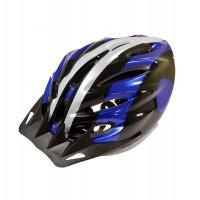 Casca protectie Sport, Bottari, pentru bicicleta, albastru/gri/negru, marime S, 55 - 56 cm