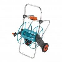 Carucior pentru furtun, Gardena 02674-20, cu ax oscilant si roti de transport