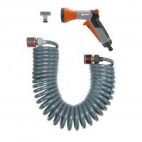 Furtun spiralat, 10 m, cu conectori si pistol pentru stropit Gardena 4647