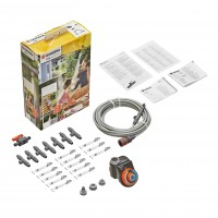 Sistem racire terasa Gardena 13137, PVC, 10 m, 7 duze de pulverizare + programator Easy