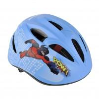 Casca protectie, pentru copii, Fischer, cu adaptor si functie de iluminare, pentru bicicleta, albastru, marime S/M, 55 - 59 cm
