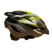 Casca protectie, Fischer, cu functie de iluminare, pentru bicicleta, negru + gri, marime S/M, 54 - 59 cm