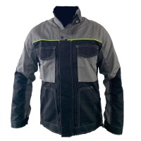 Jacheta de lucru DCT Amos, bumbac, negru + gri, marimea 64
