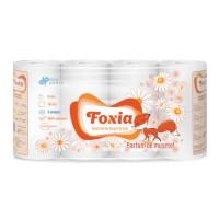 Hartie igienica Don Pedro Foxia Musetel, celuloza, 3 straturi, alb, 8 role