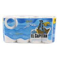 Hartie igienica Don Pedro El Capitan Clasic, celuloza, 3 straturi, alb, 8 role